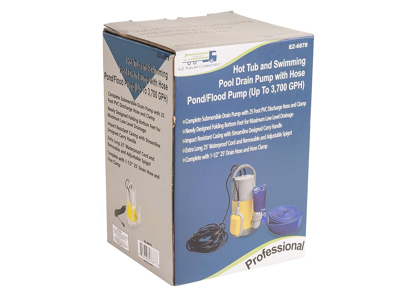 Amazoncom  Hot Tub And Swimming Pool Drain Pump With Hose Pond - Amazon pond pumps