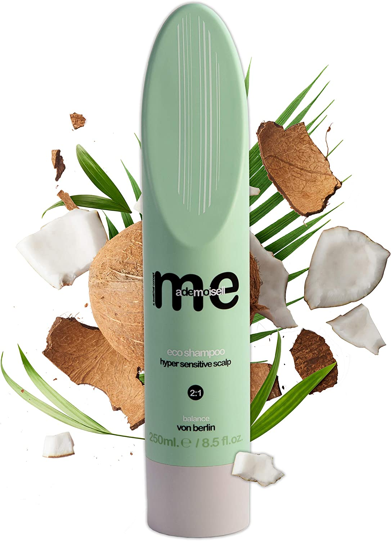MeMademoiselle Eco Shampoo para cuero cabelludo sensible sin fragancias I Made in Germany (250 ml)