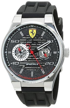 Reloj Scuderia Ferrari para Hombre 0830429, Negro (Negro/Plateado)
