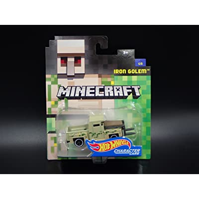 Hot Wheels Minecraft Iron Golem Vehicle, 1:64 Scale: Toys & Games