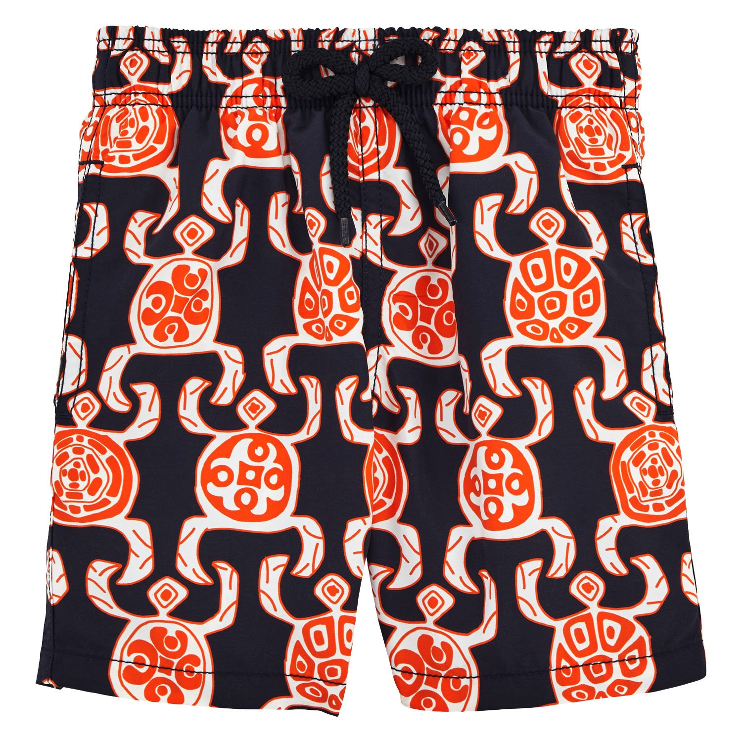 Vilebrequin Primitive Turtles Swim Shorts - Boys - navy - 4Yrs