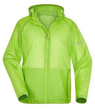Fifty Five ligero Hombre Lluvia Chaqueta función Chaqueta Percy verde xl Cazadora de agua viento transpirable