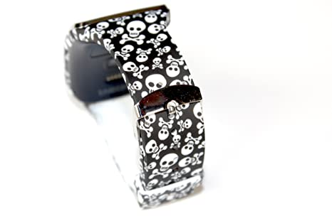 JSP Black With Skulls Replacement Band for Samsung Gear S Smart ...