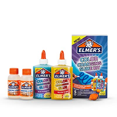 Elmer's Color Changing Slime Kit | Slime Supplies Include Elmer's Color Changing Glue, Elmer'S Magical Liquid Slime Activator, UV Light, 5 Piece Kit: Office Products
