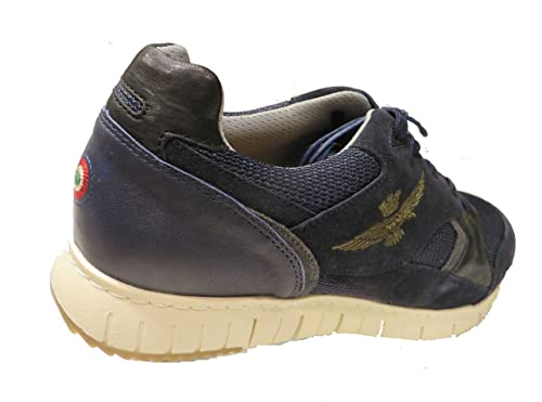 af9fec0fda Aeronautica Militare Scarpe Sneaker SC140, Blu, Uomo, Felpa ...