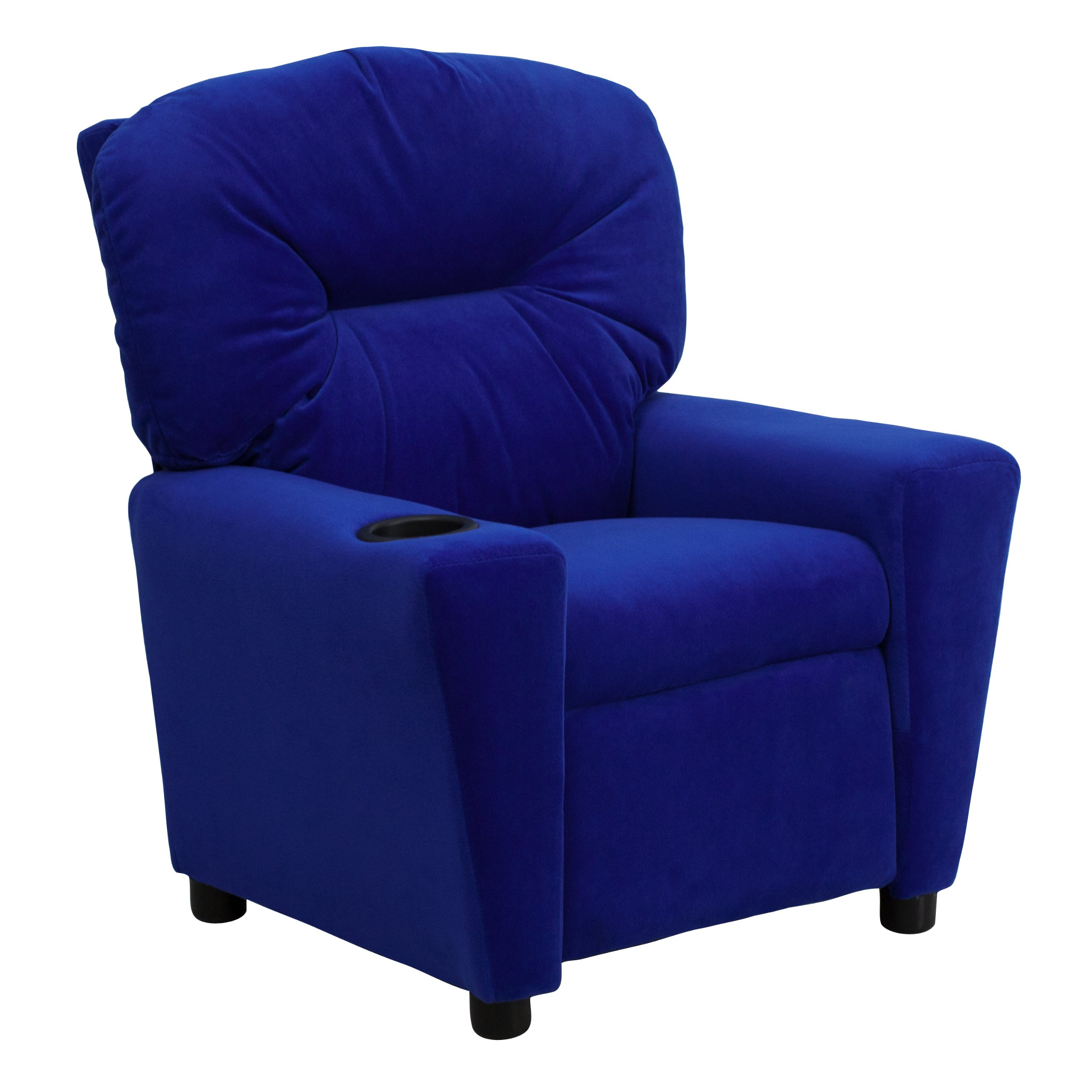 Winston Direct Kids' Series Contemporary Blue Microfiber Recliner with Cup Holder by Winston Direct