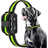 Dog Bark Collar Rechargeable and No Harm Shock Waterproof Remote Dog Shock Collar with Beep Vibration and Shock Electric Coll