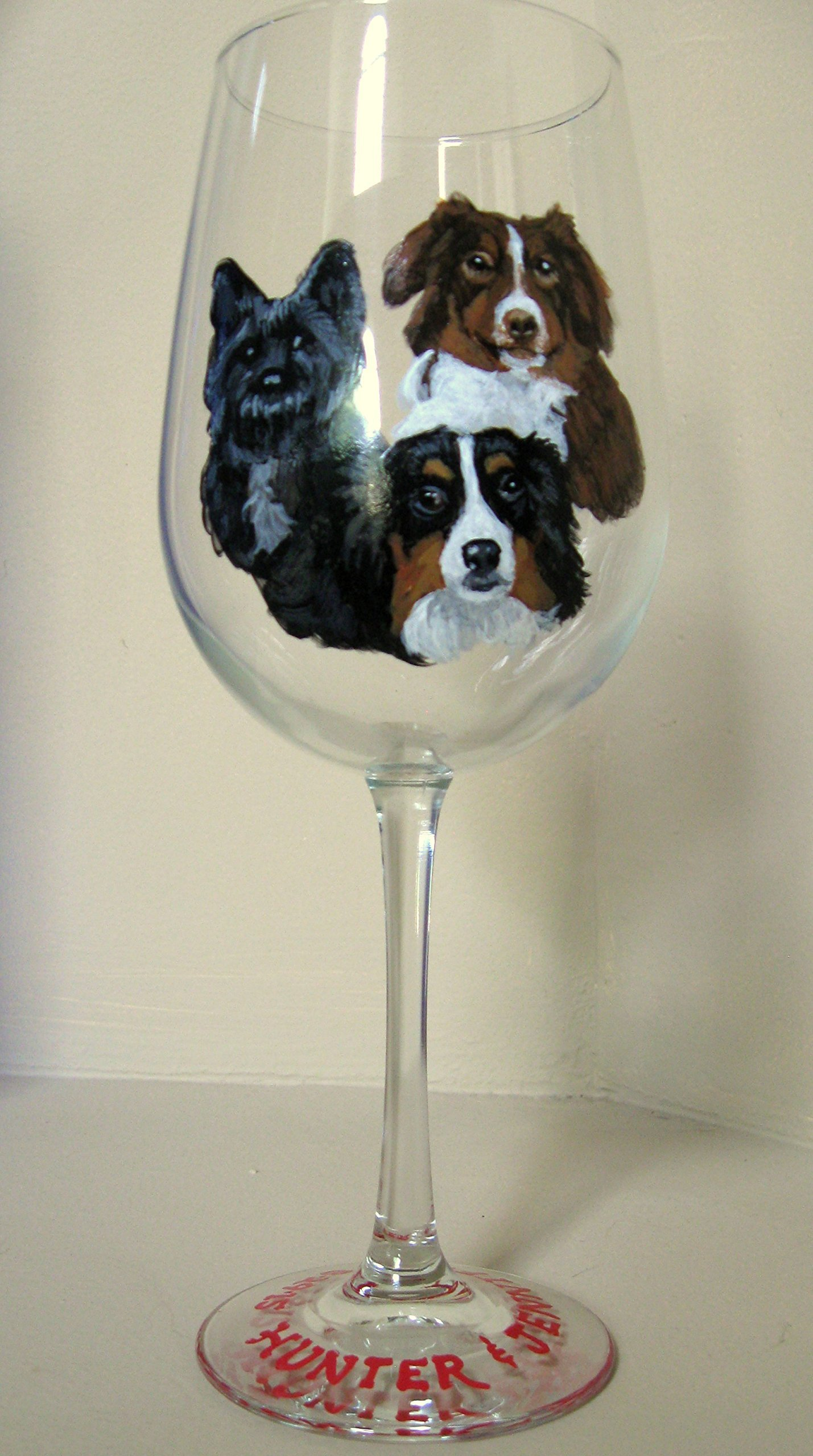 Art, Painted Wine Glass, Custom Dog, Cocktail Glass, Pet Portrait, Hand Painted Dog, Personalized Animal Art, Original Art