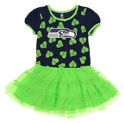 64bea0b7 Outerstuff NFL Kids Girls Seattle Seahawks Love to Dance Tutu, Green
