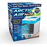 Ontel Arctic Air Pure Chill Evaporative Ultra Portable Air Conditioner with 4-Speed Air Vent