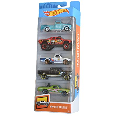 Hot Wheels 2020 HW Hot Trucks 1:64 Scaled 5-Pack: Toys & Games