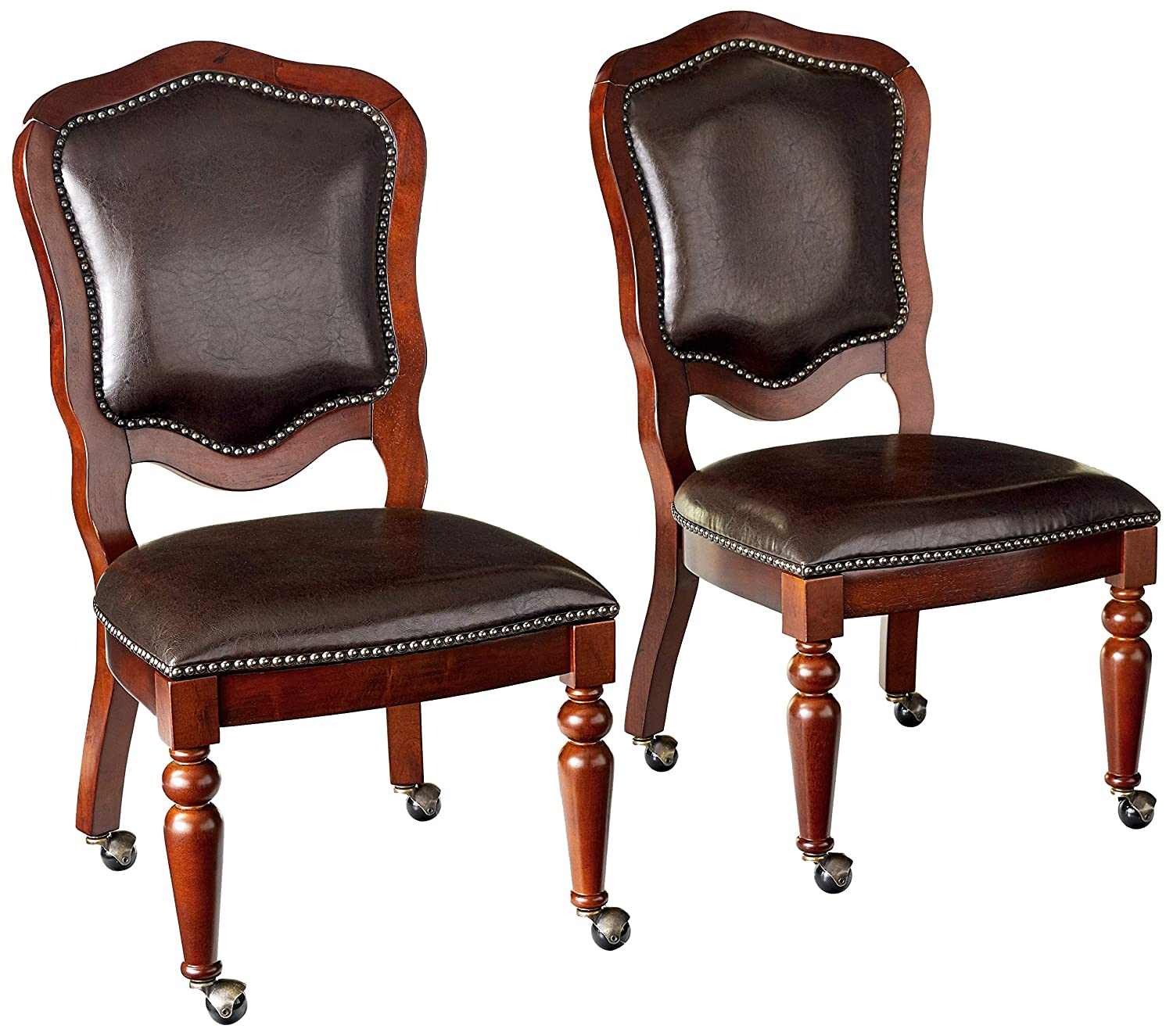 Sunset Trading Bellagio Caster Set of 2 Game-Dining-Chair, Wheels