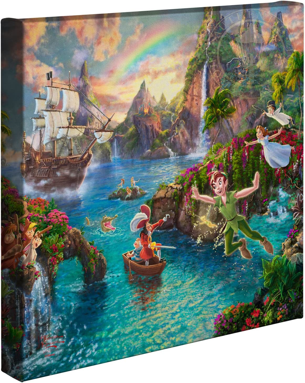 Thomas Kinkade Studios Disney Dumbo 14 x 14 Gallery Wrapped Canvas