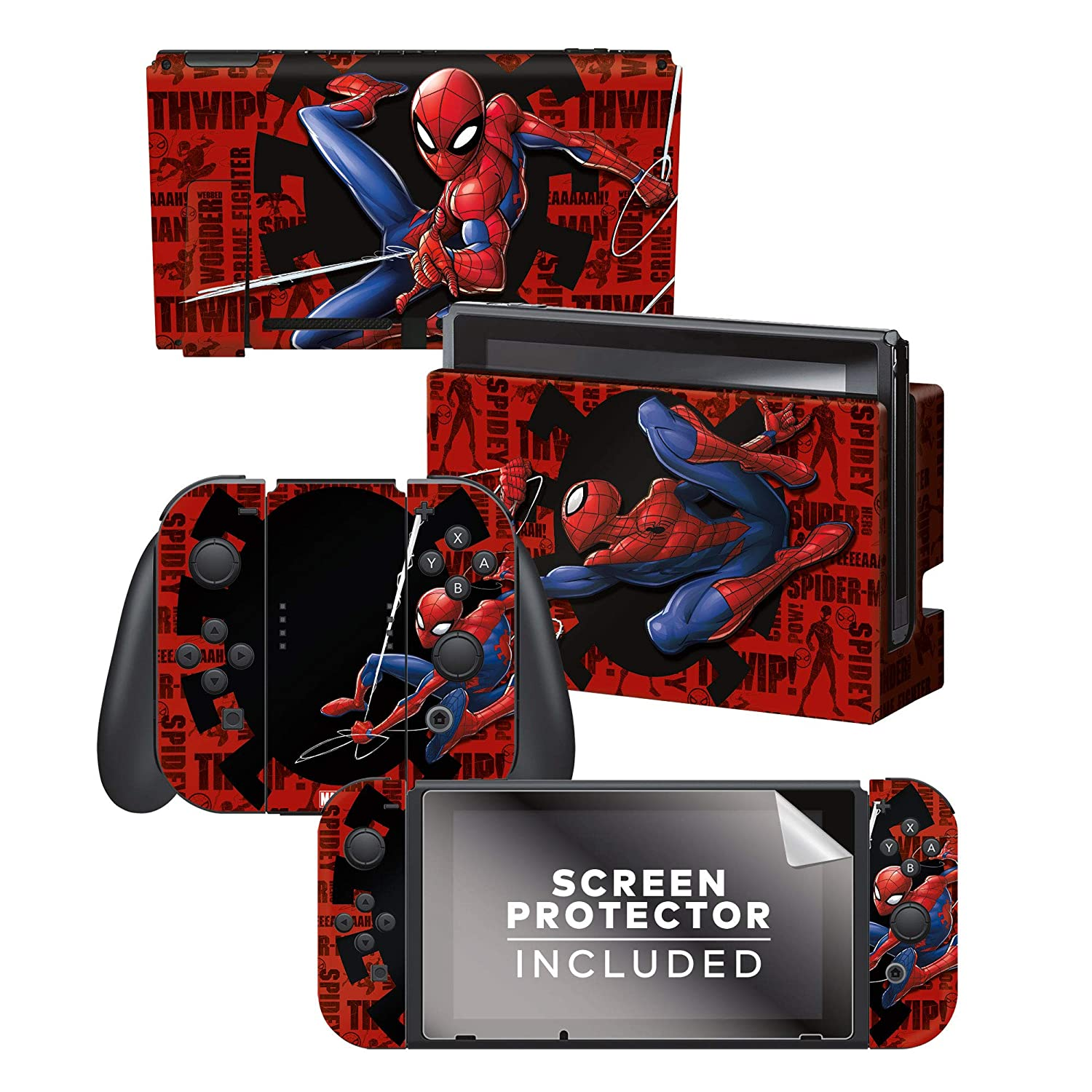 """Controller Gear Authentic and Official Licensed Nintendo Switch Skin Marvel - Spider-Man """"Web Slinger"""" - Nintendo Switch"""