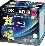 TDK 録画用ブルーレイディスク 超硬シリーズ BD-R 25GB 1-4倍速 ホワイトワイドプリンタブル 20枚パック 5mmスリムケース BRV25HCPWB20A