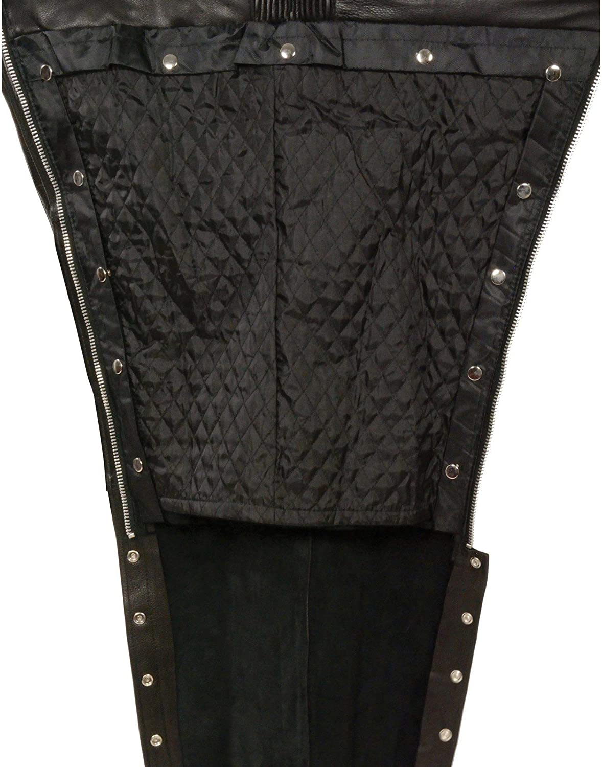 Black, XXX-Small Milwaukee Four Pocket Leather Chaps