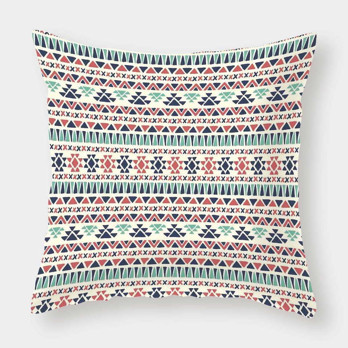 iPrint - Funda de cojín de lino y algodón, diseño tribal ...
