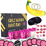 Bachelorette Party Games Pack of 57 I 10 Shot Necklace Cups I 30 Drink If Drinking Games I 1 Banana with 3 Tossing Ring…