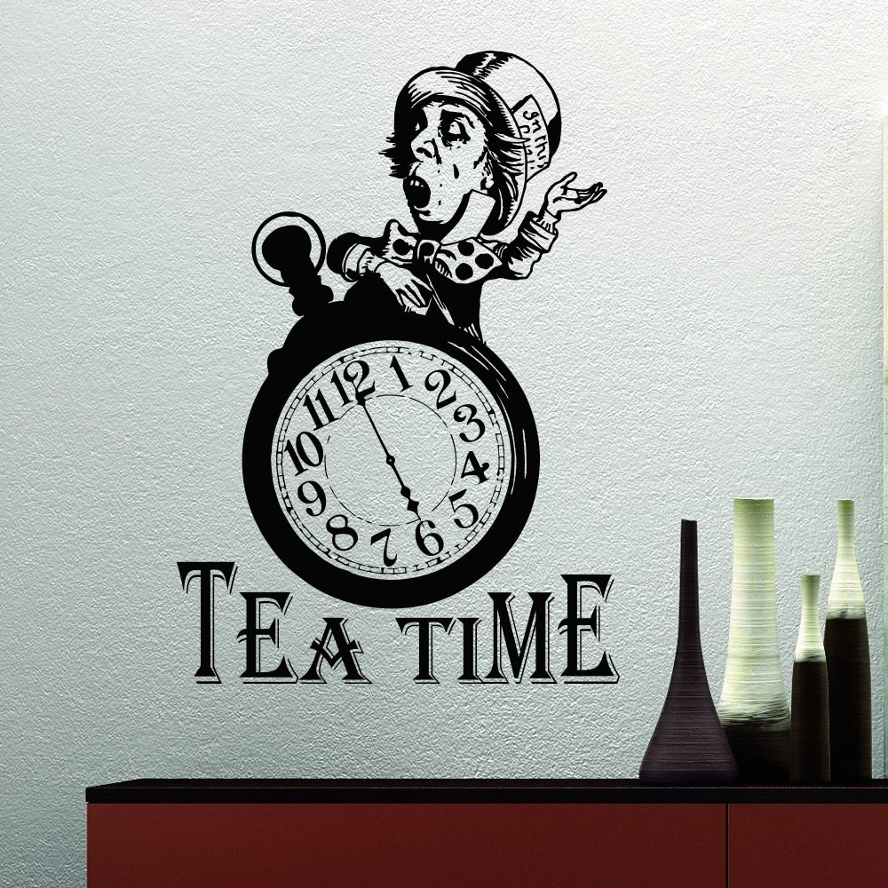 Mad Hatter Tea Party Alice In Wonderland Wall Decal Quote Tea Time