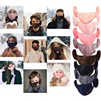 2-in-1 Unisex Face Bandana With Ear Warmers For Adults & Kids, Womens Cold Winter Outdoor Cotton Earmuffs