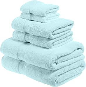 SUPERIOR Solid Egyptian Cotton 6-Piece Towel Set