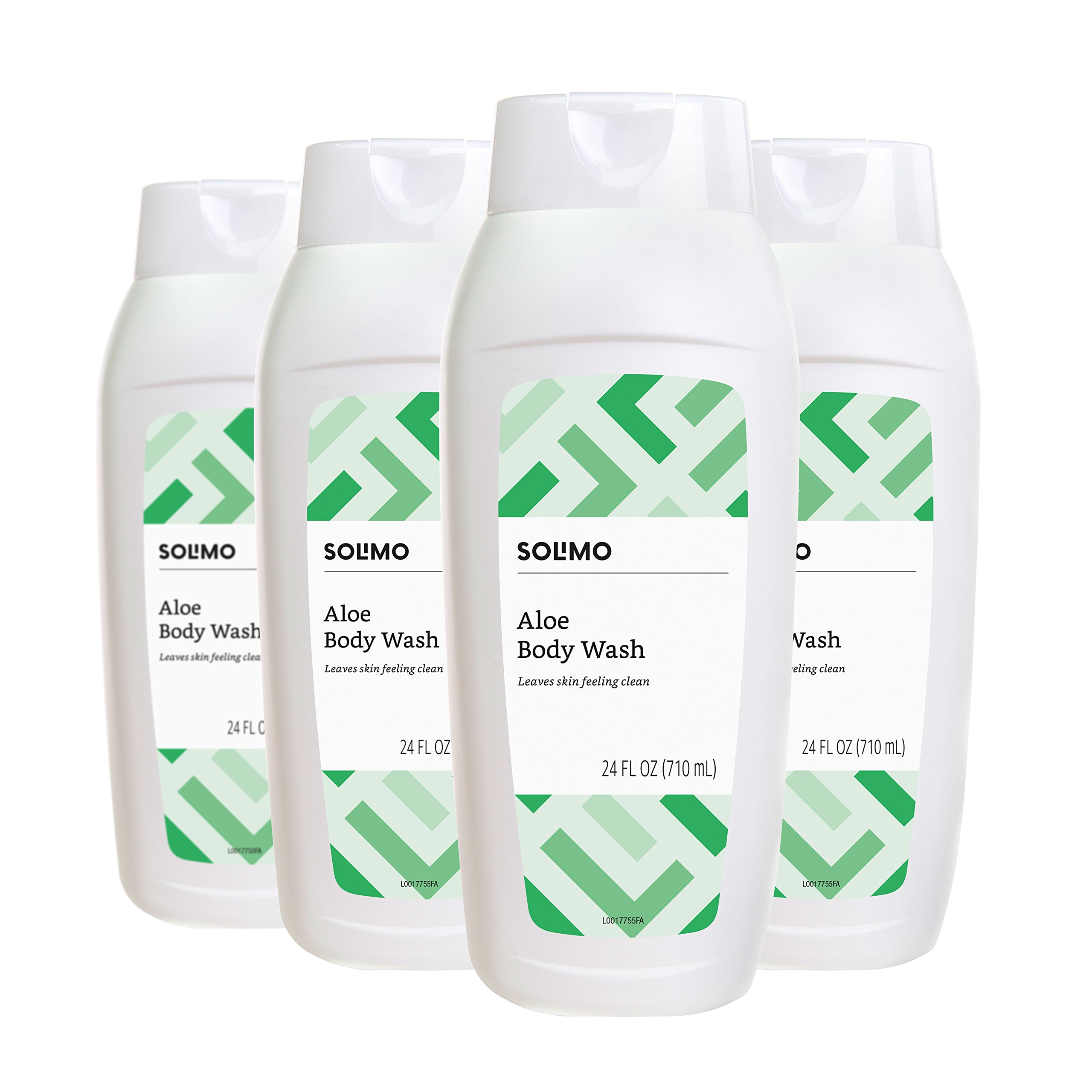 Amazon Brand - Solimo Aloe Body Wash, 24 Fluid Ounce (Pack of 4)