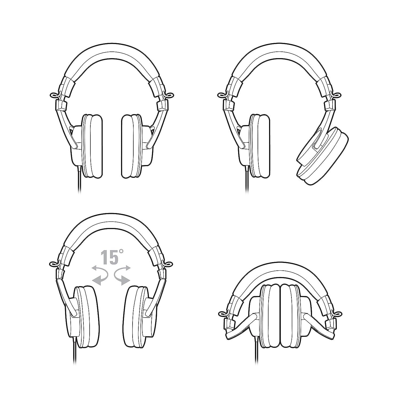 Audio Technica ATH-M30x Cuffie Monitor Professionale e per Dj Nera