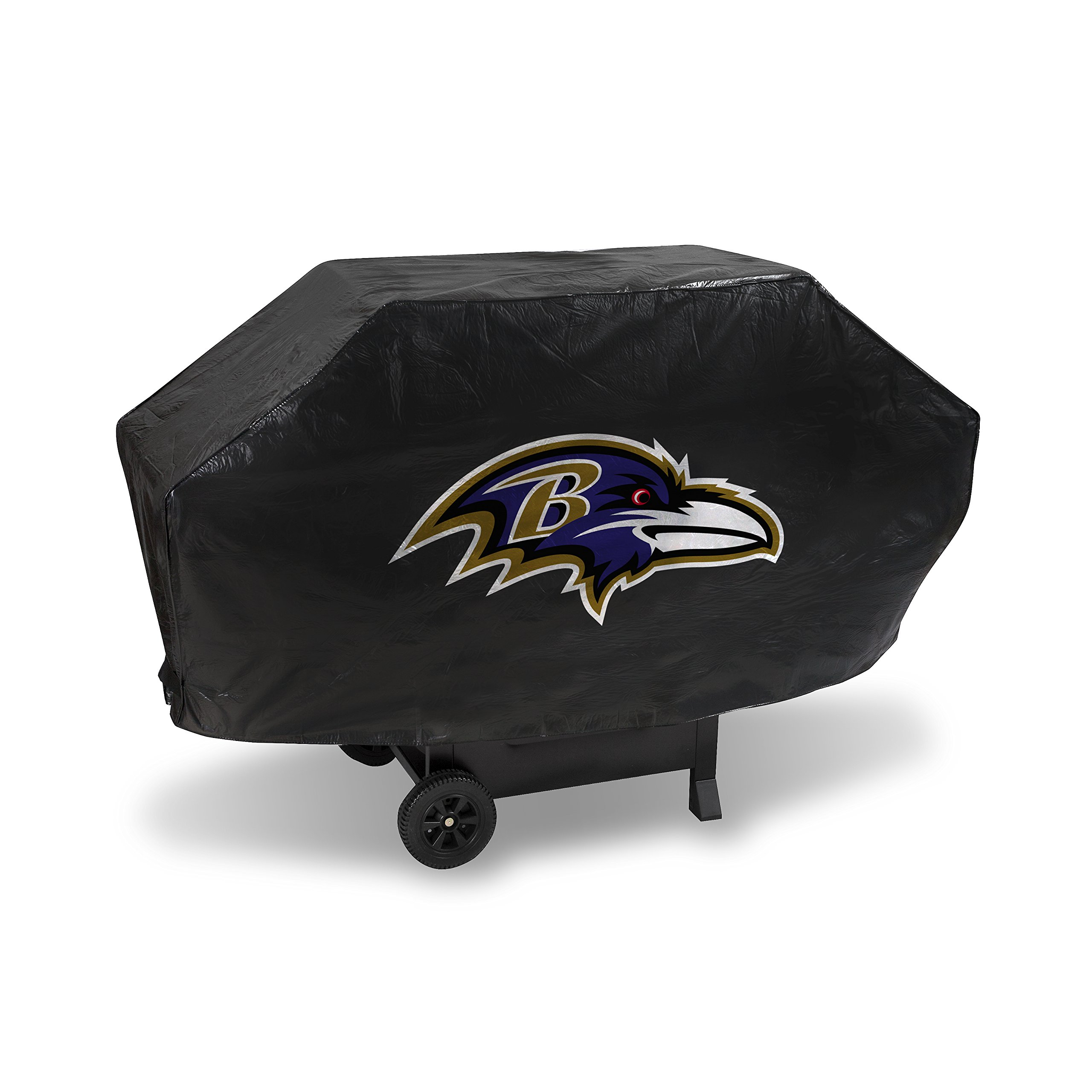 Rico Industries NFL Baltimore Ravens Deluxe Vinyl Padded Grill Cover