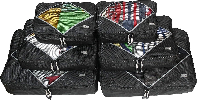 rusoji – Sistema de Packing Cube – 6pc Varios Tamaño conjunto ...