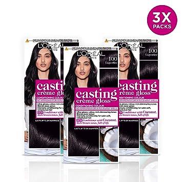 L Oreal Casting Creme Gloss 100 Liquorice Black Semi Permanent Hair