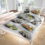 Moissonneuse-batteuse et draps de lit Claas Landmaschinen 100% coton Castor fine pour bébé et tout-petit Taille 135x200 cm Coussin 80x80 cm Set Linge de lit bébé fabriqué en Allemagne