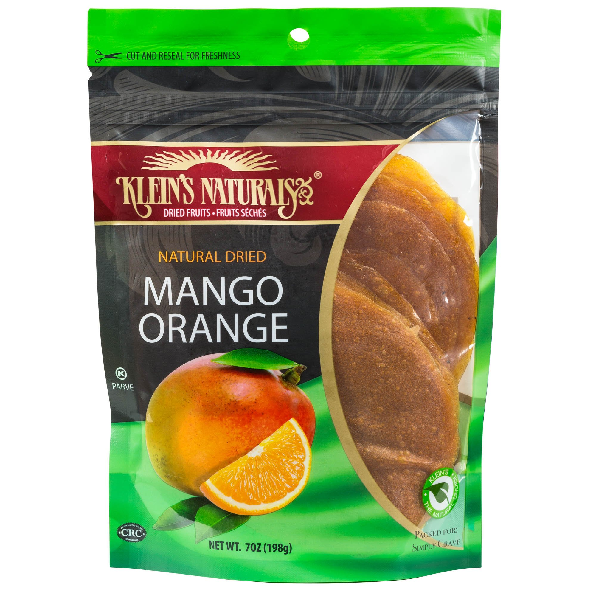 Klein's Naturals Natural Dried Mango Orange Discs, Kosher Certified Fruit Leather, Resealable Pouches of Fruit Leathers Discs 7-Ounce (Pack of 3) by  (Image #1)