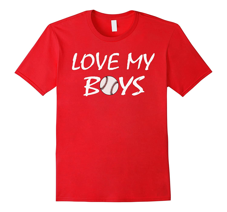Womens Love My Boys Baseball Mom  Dad Cute T-Shirt-CD