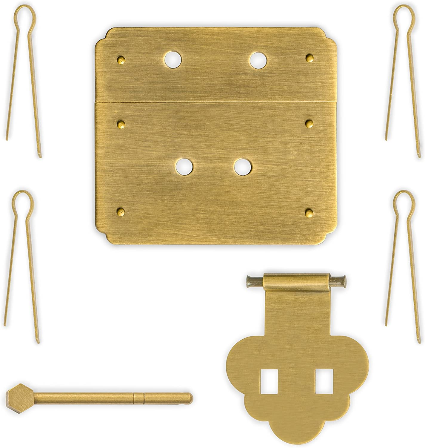 "CBH Chinese MUSHROOM Chest Box Brass Hardware Latch 3.1/"" x 3.5/"""