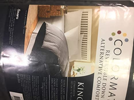 Amazon.com: Colormate Down Alternative Comforter King Navy ...