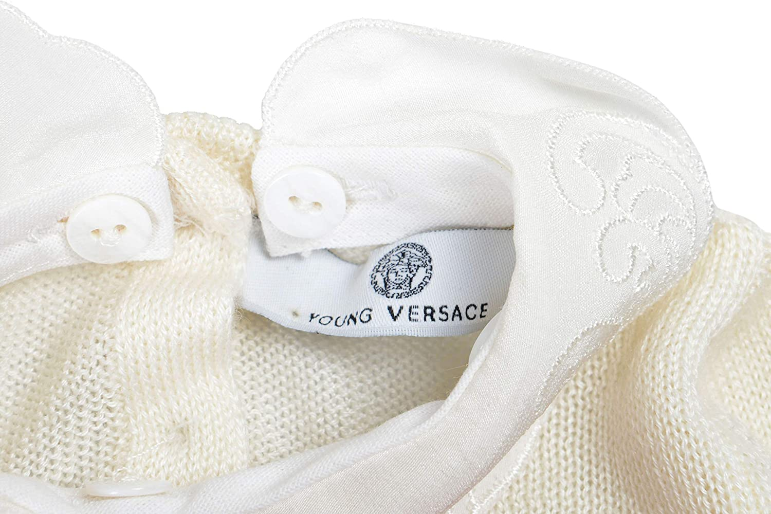YOUNG VERSACE Cashmere Off-White Girls Sweater Sz 1M