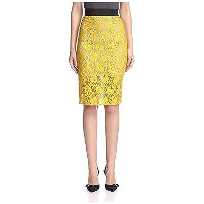 A.B.S. by Allen Schwartz Women's Lace Skirt, Dijon, M at Amazon Women's Clothing store