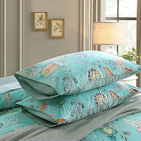 Bohemian Pillowcase Multi Colors Bedding Set Of 2 King /& Queen Pillow Case Cover