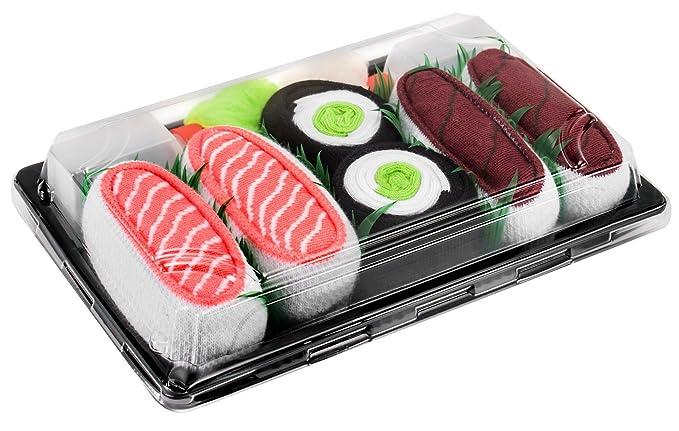 Sushi Socks Box - 3 pares de CALCETINES: Maki de Pepino, Salmón, Atún