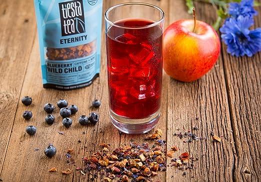 Tiesta Tea Blueberry Wild Child Blueberry Hibiscus Fruit Tea, 200 Servings, 1 Pound Bag - Caffeine Free, Loose Leaf Herbal Tea Eternity Blend.