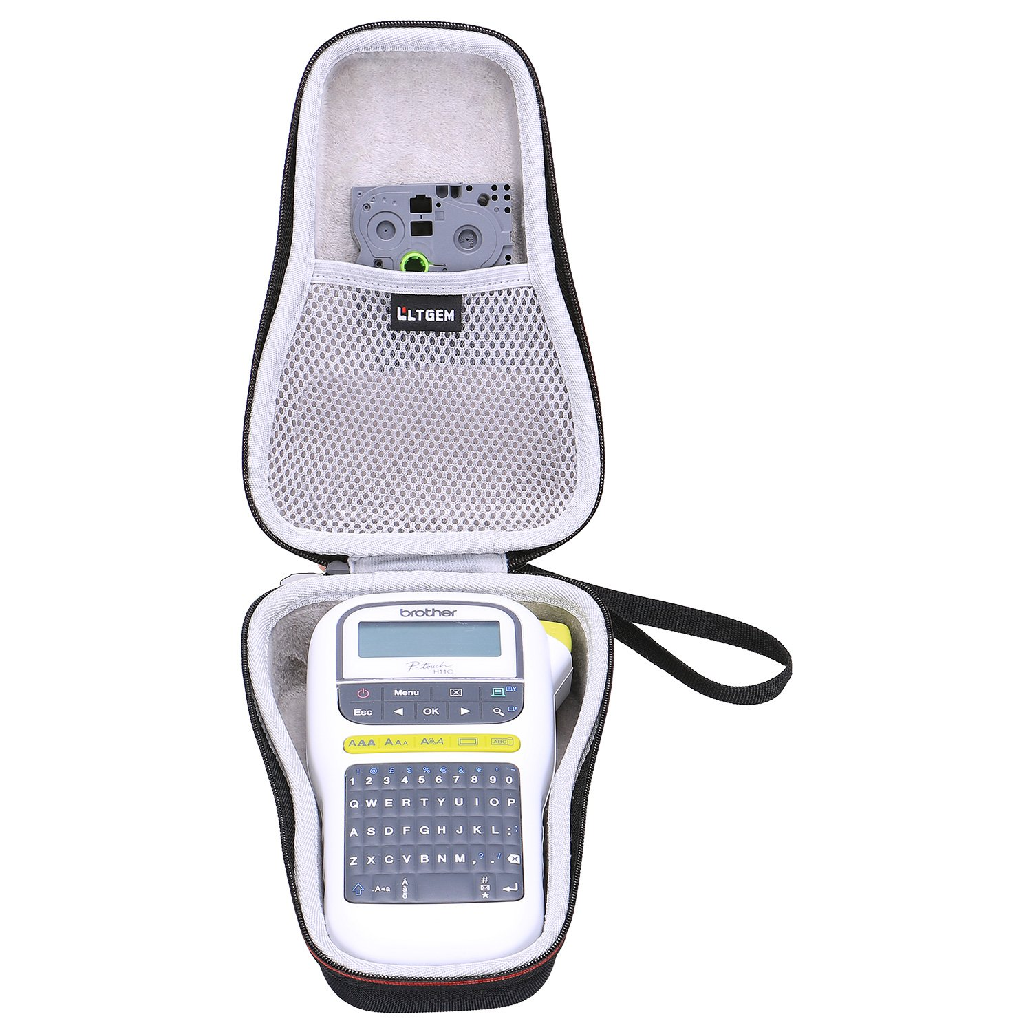 LTGEM EVA Hard Case for Brother P-touch PTH110 Easy Portable Label Maker - Travel Protective Carrying Storage Bag