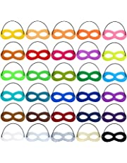 Superhero Masks Eye, Superhero Masks Cosplay Mask Half Masks Party Masks with Elastic Rope for Party, Multicolor(30pieces)
