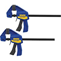 Deals on 2-Pk IRWIN QUICK-GRIP Bar Clamp One-Handed Mini 6-Inch