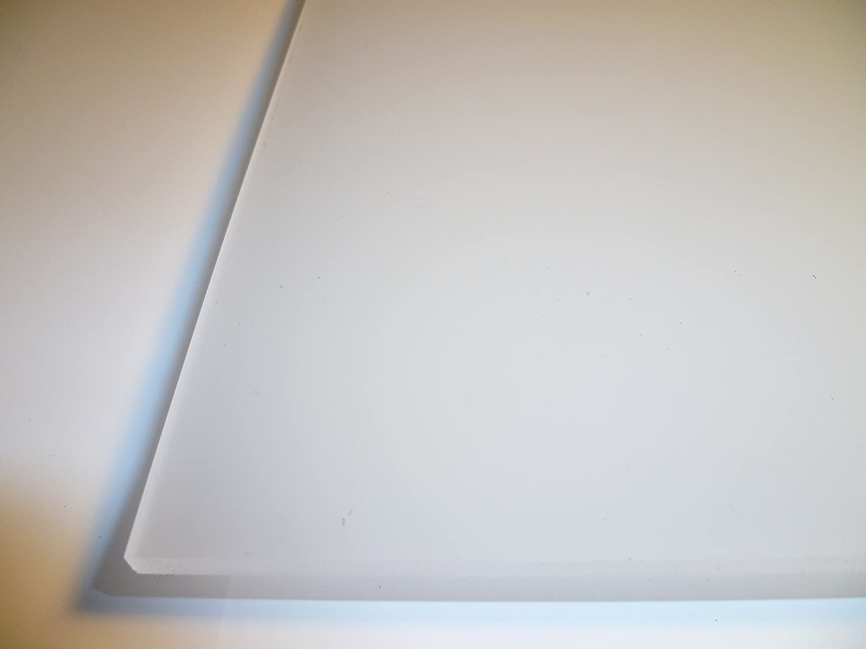 200 x 300 mm B/&T Metall PMMA Acrylglas Opal Wei/ß glatt 3,0 mm stark Milchglas Lichtdurchl/ässigkeit 78/% UV best/ändig beidseitig foliert im Zuschnitt Gr/ö/ße 20 x 30 cm