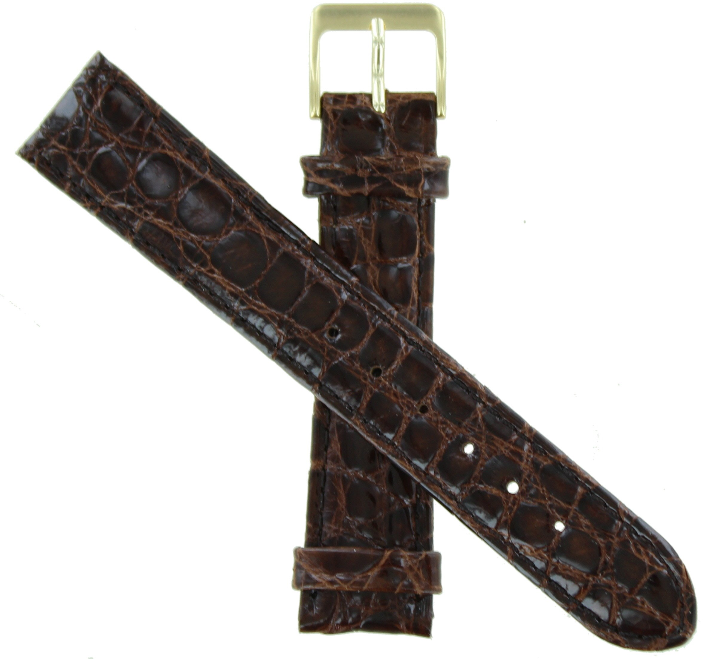 WBHQ 18mm Brown 732 Genuine Crocodile Watch band