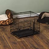 Home Discount Pet Cage With Tray, Folding Dog Puppy Animal Crate Vet Car Training Carrier Metal, 18 inch