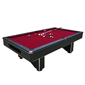 Harvil Galaxy Slate Pool Table 8 Foot With Red Felt By Includes On Site