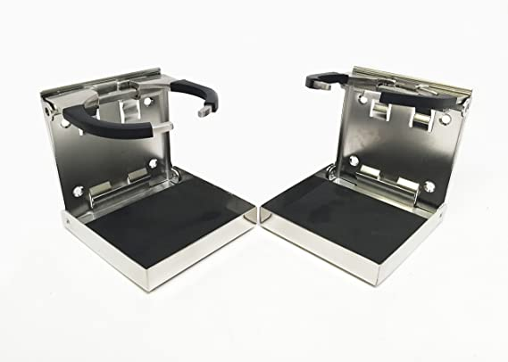 Pactrade Marine Boat RV Stainless Steel 304 Folding Adjustable Arm Drink Holder