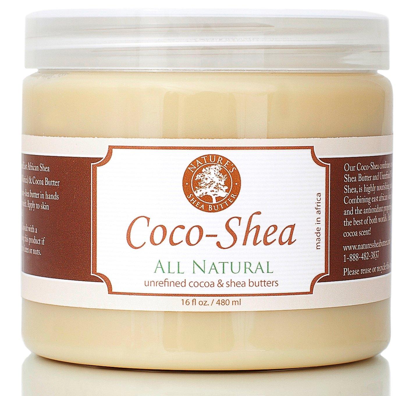 100% Organic All Natural Shea Butter - Coco - Nature's Shea Butter - 16 oz
