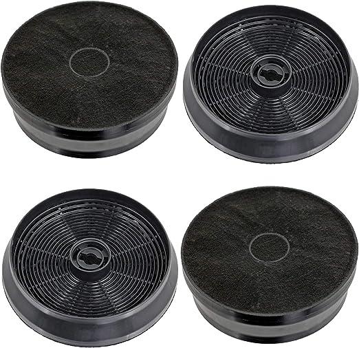Spares2go - Filtro de carbón para campana extractora Indesit (4 unidades): Amazon.es: Hogar